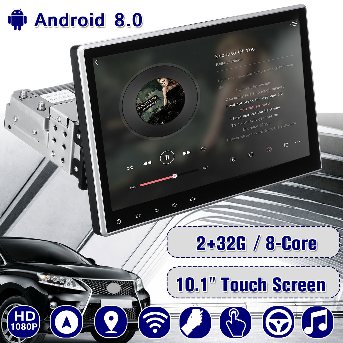 10.1inch HD WIFI Car GPS Navigation FM Bluetooth Touches Screen Truck gps Upgrade Sat nav Automobile Gps Navigators High Quality