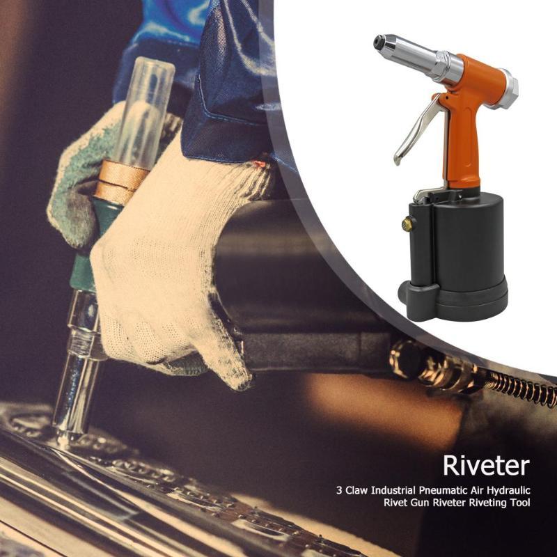 3 Claw Industrial Pneumatic Air Hydraulic Pop Rivet Gun Riveter Nail Nut Riveting Tool