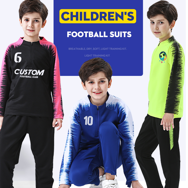 Kids Winter Sportswear Running Sets Custom Football outdoor jogging training Gym fitness Jackets Training Soccer Coat Tracksuit