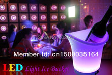 New glowing Multi Color LED Ice Bucket! Magic barware stools! Remote controll color changing led ice bucket beer bucket SL-LIC01 led light color changing ice bucket with remote control rechargeable