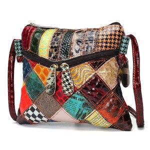 Image 2 - AEQUEEN Colorful Shoulder Bags For Women Messenger Bag Patchwork Small Flap Bags Design Crossbody Bolsas Feminina Bright Color