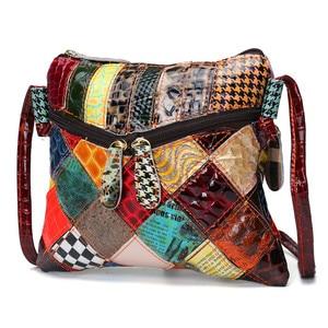 Image 2 - AEQUEEN Kleurrijke Schoudertassen Voor Vrouwen Messenger Bag Patchwork Kleine Flap Tassen Design Crossbody Bolsas Feminina Heldere Kleur