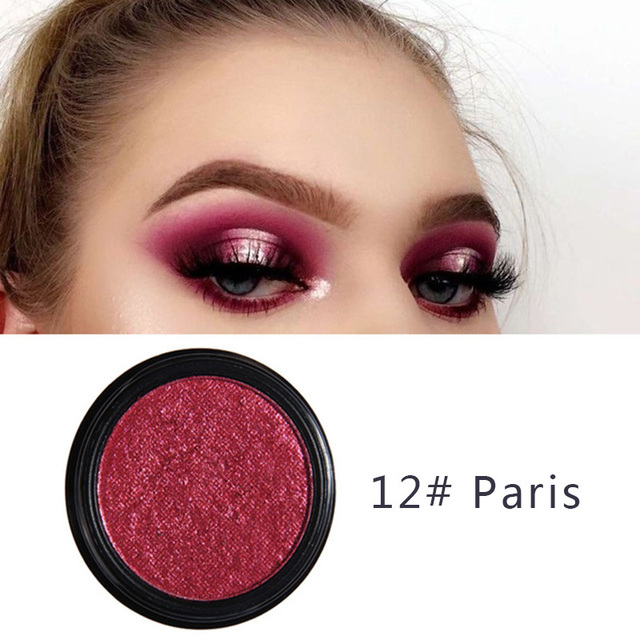 PHOERA Metal Eyeshadow Makeup Palette Red Black Color Glitter Eye Shadow Natural Eyes Make Up maquillage TSLM2 1