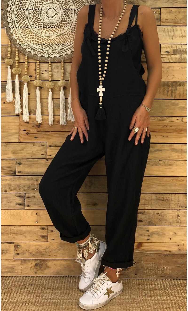 Casual Overalls For Women   Wide     Leg     Pants   High Waist Trousers Loose Atrap Bib   Pant   Capris With Two Pocket Womens Bottom