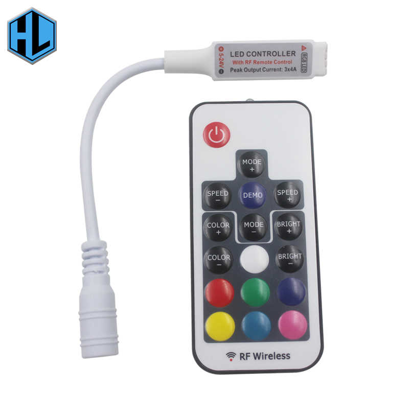 17-key Infrared Remote Control DC5-24V LED RF RGB Light with Controller for Indoor Home Ceiling Decorative Lighting Connector