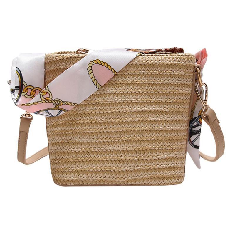 9561ef69d1c8 TFTP-Лето Для женщин прочный ткань соломенные пляжные сумки женственный  тканые сумка-мешок трава