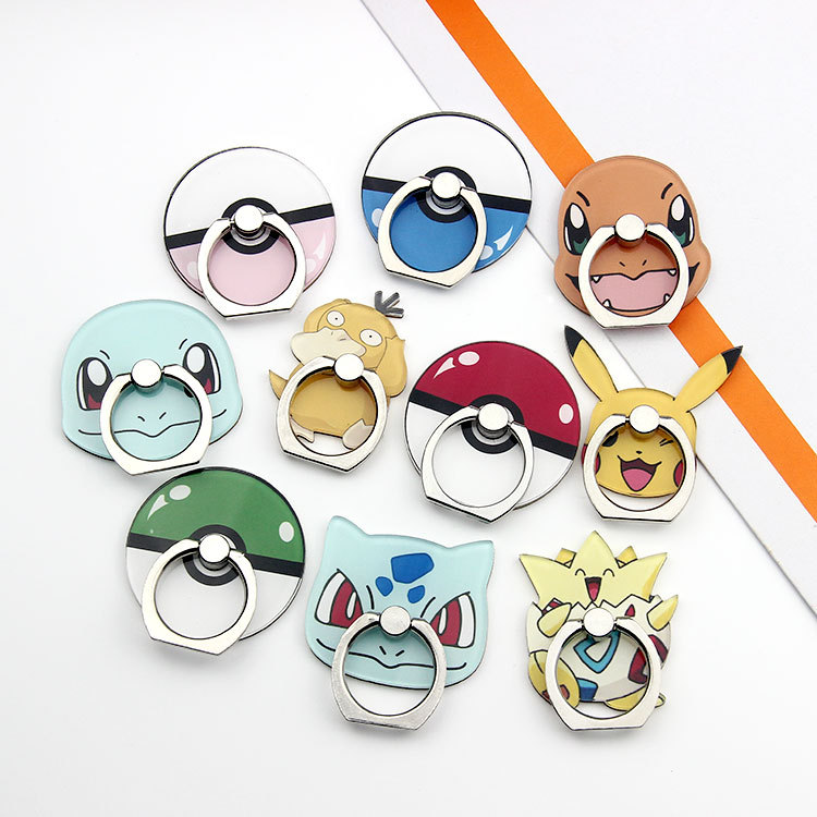 5PCS/Lot Wholesale Universal Finger Ring Mobile Phone Finger Holder Stand Pokemons Pocket Monsters For Xiaomi Huawei Meizu
