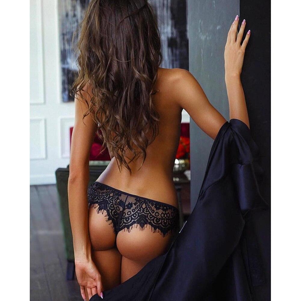2019 Women Transparent Lace Panties High Waist Underwear Sexy G-String Thong New