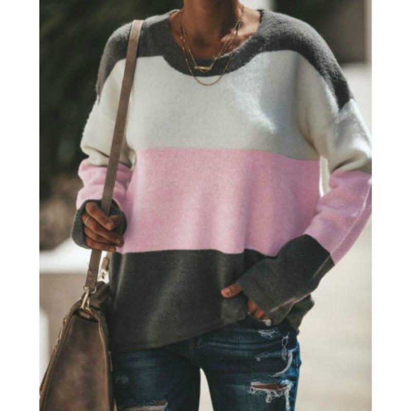 Colors patchwork loose casual hoodies women sweatshirts autumn elastic waist sexy street wear crop tops sudadera mujer