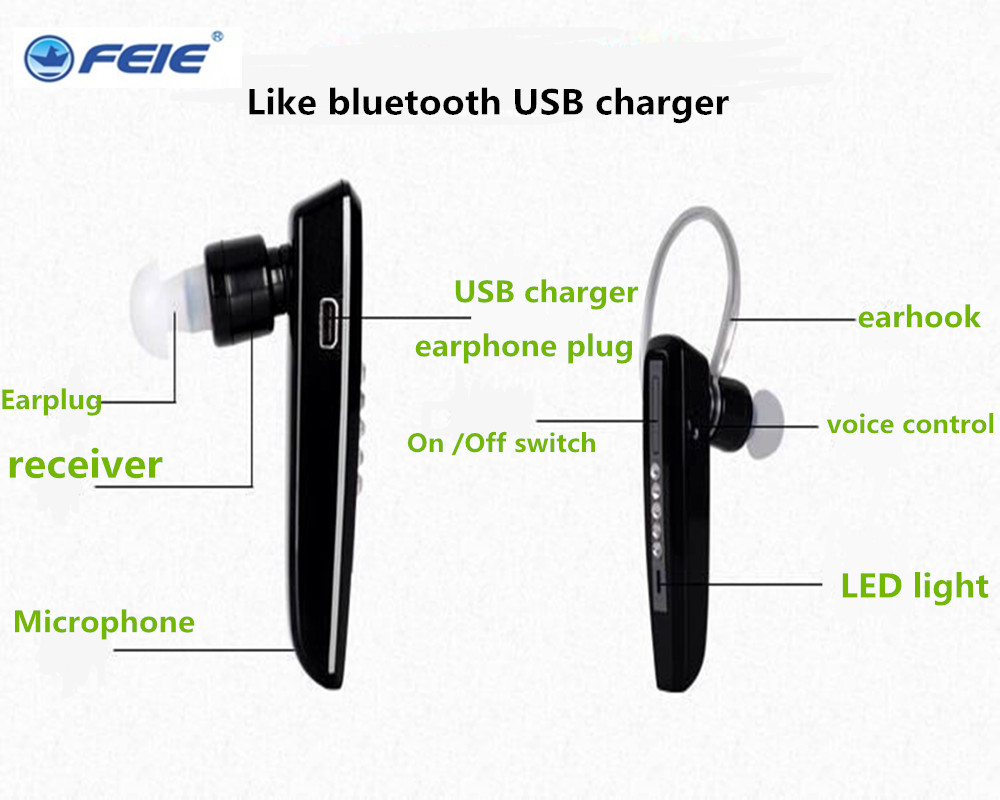USB Charger Hearing Aid Digital Bluetooth Headphones for Deaf S 101 Ear Hearing Devices Free Shipping