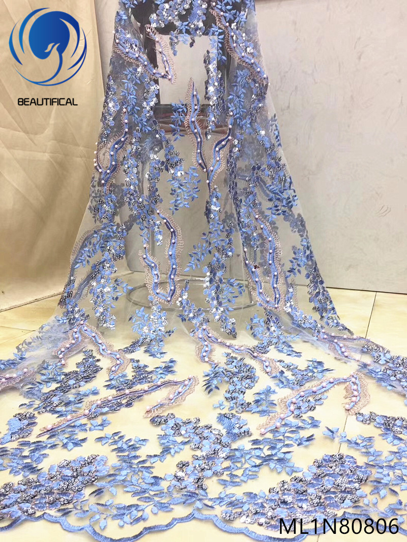 Beautifical latest lace fabric african lace fabric 2019 high quality lace nigerian lace fabrics 5 yards/lot top quality ML1N808Beautifical latest lace fabric african lace fabric 2019 high quality lace nigerian lace fabrics 5 yards/lot top quality ML1N808