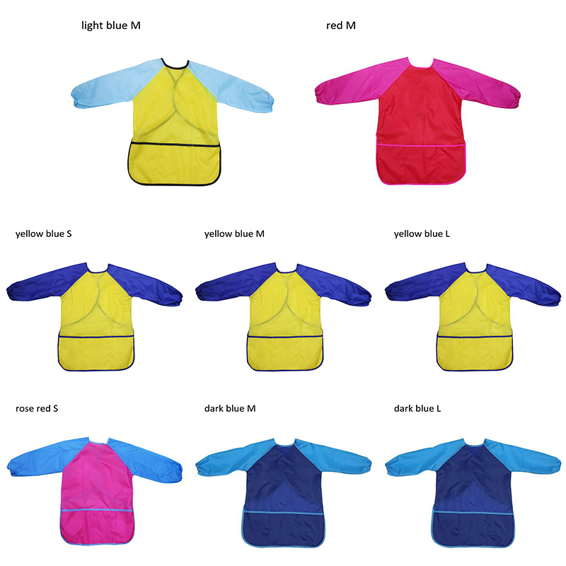 Art Aprons Birthday Gift Learning Education Interesting Toys Portable Long Sleeve Kids Children Smock Waterproof Painting Apron