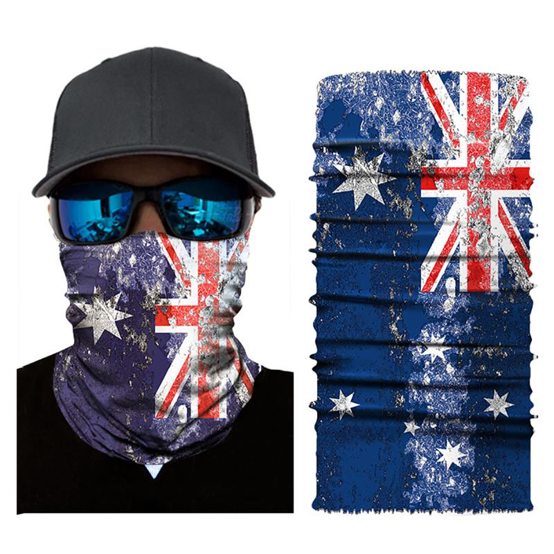 High Quality Digital United States United Kingdom Canada Printing Magic Seamless Headscarf Mask Riding Sports Sunscreen Scarf