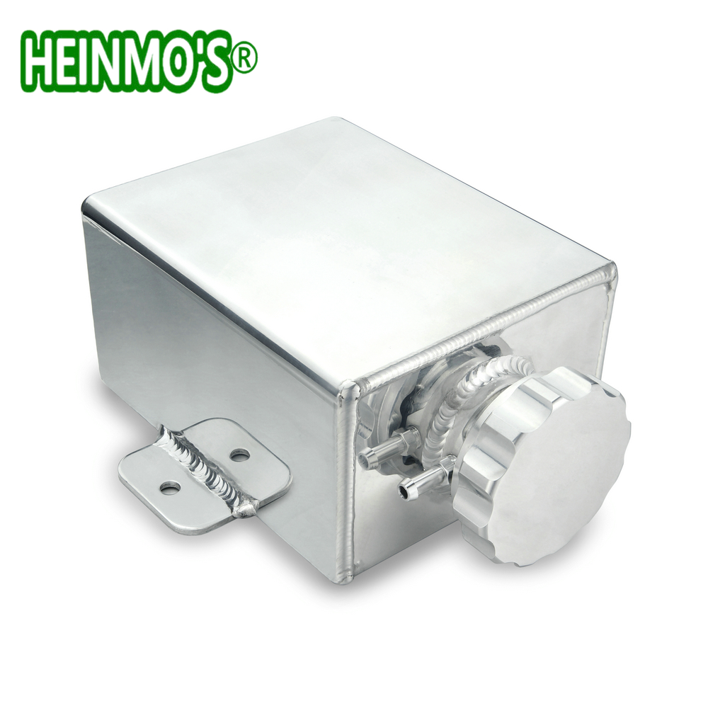 Coolant Expansion Tank AN8 1 2L Aluminum Can Polished Universal Radiator Overflow Tank Header Water Tank