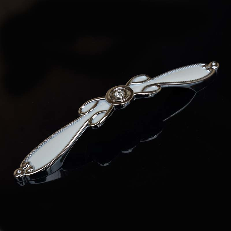 96mm 128mm Modern Fashion Deluxe Silver Gold Rhinestone Wardrobe Dresser Door Handle Glass Crystal Kitchen Cabinet Drawer Pull in Cabinet Pulls from Home Improvement