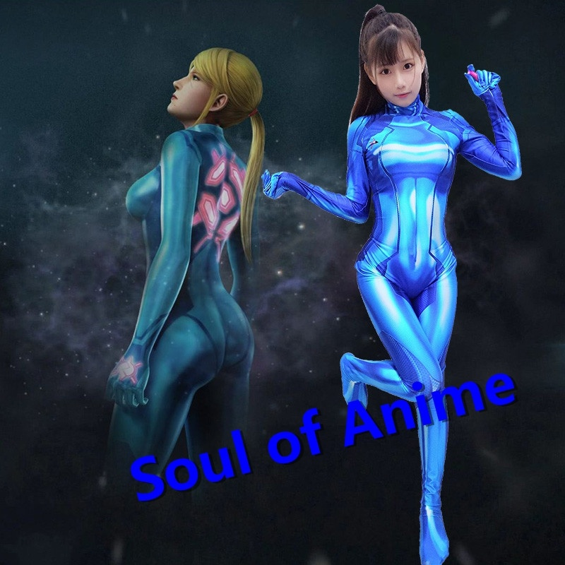 Us 47 99 Cosplay Zero Suit Samus Cosplay Costume Metroid Samus Aran Lycra Fabric Bodysuit In Movie Tv Costumes From Novelty Special Use On