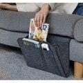 Прикроватный Caddy Карманный двухслойный толстый домашний диван войлочный Прикроватный карман или органайзер для планшета журнал телефон ма...