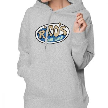 Hannah Montana Hoodie Rico S Surf Shop Logo Hoodies Cotton Sexy Hoodies Women Streetwear XXL White Long Sleeve Pullover Hoodie 1