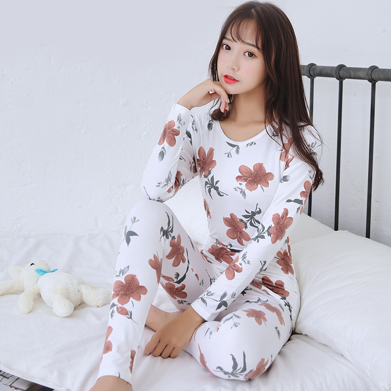 Fashion O-neck Sexy Slim Warm Long Johns Ladies Slim Underwears Sets Bottoming Women Tunic Winter Warm Women Underwear