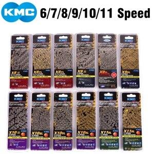 Image 2 - KMC cadena de bicicleta X8 X9 X10 X11 X12 Z9 Z8.3, 116L 11 10 9 8, cadena de velocidades con botón mágico para piezas de bicicleta de montaña