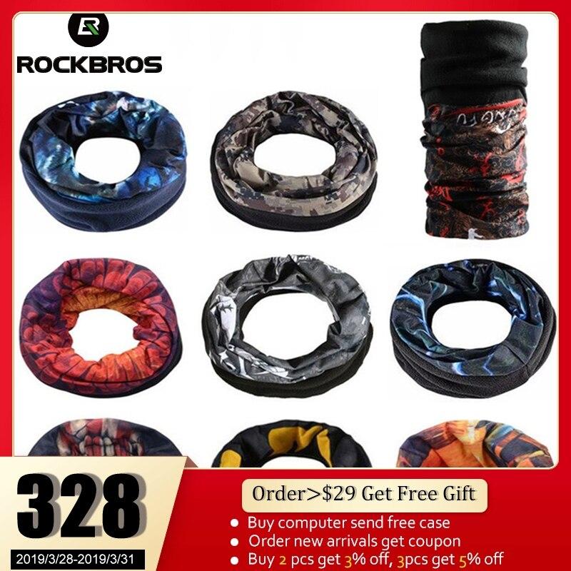 ROCKBROS Cycling Fleece Thermal Magic Scarf Sports Bike   Headwear   Headband Neck Warmer Mask Scarf Bandana Bike Bicycle Equipment