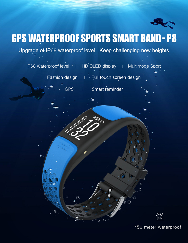 Built in GPS Waterproof ip68 swimming sport smart bracelet watch smartband fitness tracker wristband pulseira inteligente bandBuilt in GPS Waterproof ip68 swimming sport smart bracelet watch smartband fitness tracker wristband pulseira inteligente band