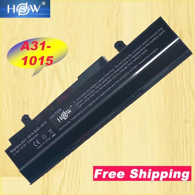HSW 5200 mAH Siyah dizüstü pil asus için Eee PC VX6 1011 1015 1015 P 1015PE 1016 Eee PC 1015 Serisi Eee PC 1015