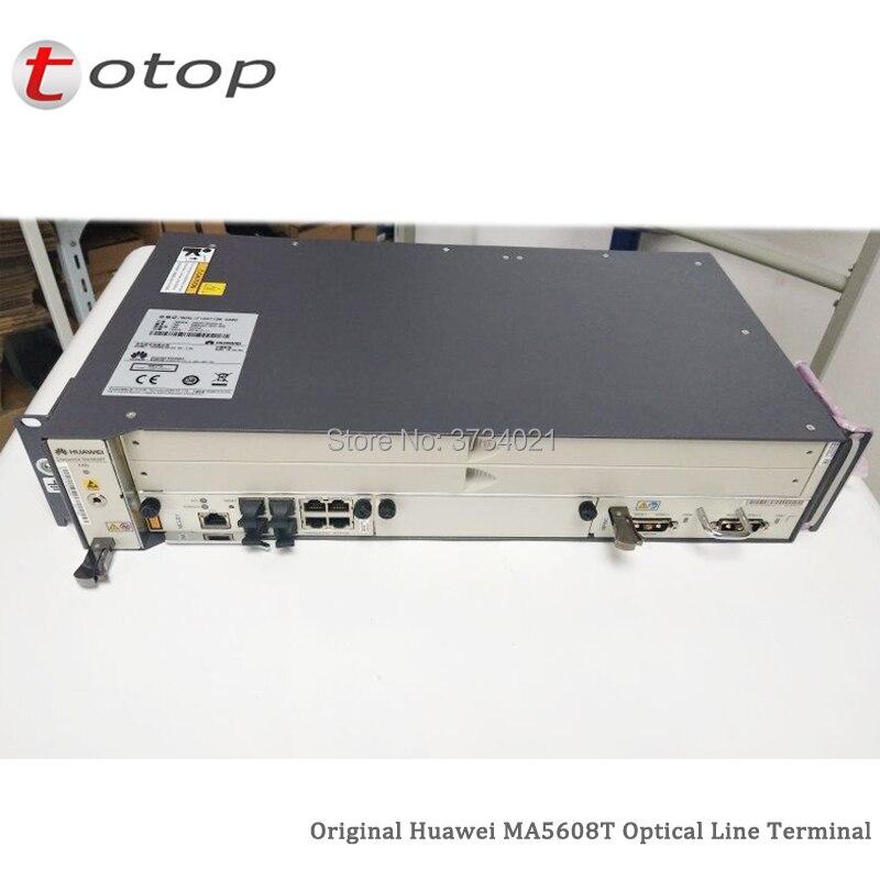 19 inch Huawei GPON OLT MA5608T with 1*MCUD (1G) + 1*MPWD (AC) + 16 Port GPFD C+ Line Optical Terminal