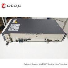 جهاز هواوي GPON OLT MA5608T بشاشة 19 بوصة مع 1 * MCUD (1G) + 1 * MPWD (التيار المتناوب) + 16 منفذ GPFD C + محطة بصرية للخط