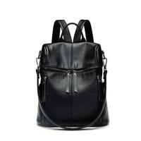 Brand Women Backpack Leather School Bags Ladies Vintage Feminina Bolsas Mujer Backpacks Rugzak Back Pack Bag Large retro C603