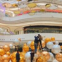 ПВХ красочный зеркальный шар лазерный луч Бар Паб Клубное оформление яркий цвет отражение сценический Фестиваль подвесной надувной шар