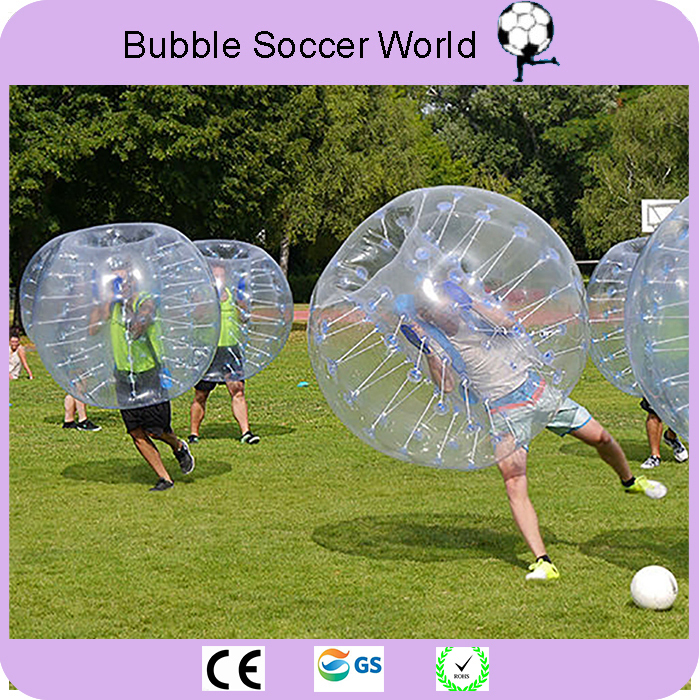 2018 New Free Shipping 0.8mm PVC 1.5m Bubble Football Bubble Soccer Ball Inflatable Bumper Ball Inflatable Ball Air Soccer Ball image