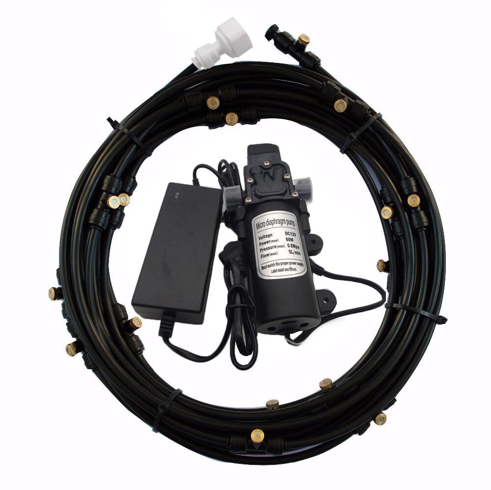 F176 High Pressure Mist Pump 12V 5L/Min 160PSI  Booster Diaphragm Water Pump Sprayer with Mist Kits For Misting Cooling SystemF176 High Pressure Mist Pump 12V 5L/Min 160PSI  Booster Diaphragm Water Pump Sprayer with Mist Kits For Misting Cooling System