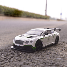 1:32 Bentley GT3 Super Race Alloy Car Simulation Diecast Sound Lights Vehicle Model Hot Wheel For Children