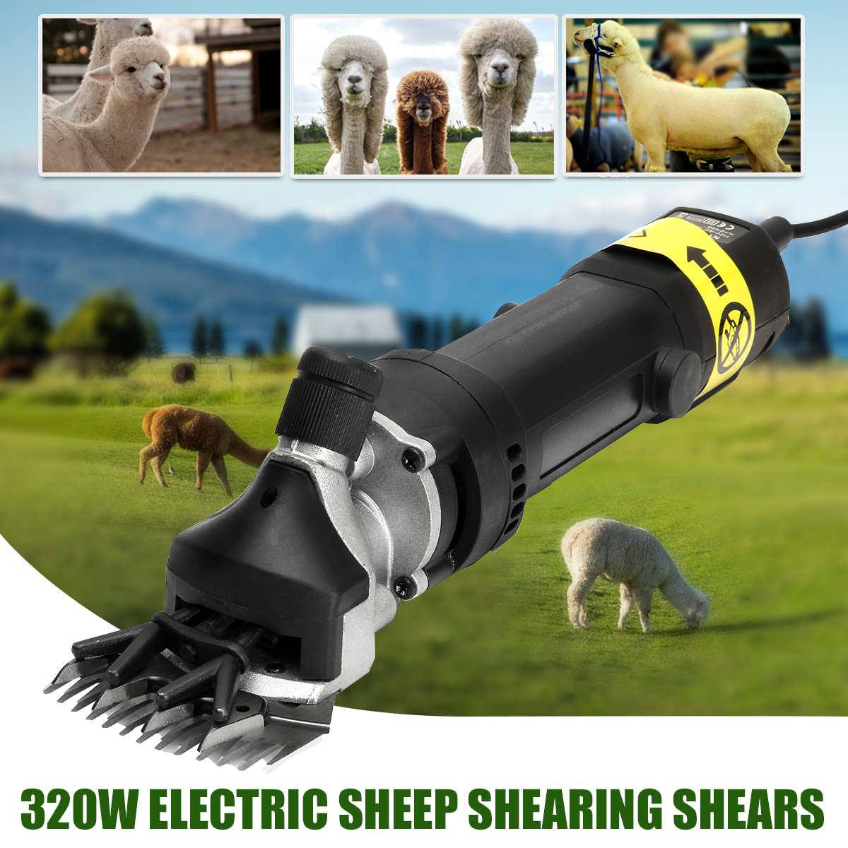 320W Electric Wool Shearing Scissors UK 220V US 110V Electric Sheep Goat Alpaca Pro Animal Groomer Clippers Wool Shearing Shears320W Electric Wool Shearing Scissors UK 220V US 110V Electric Sheep Goat Alpaca Pro Animal Groomer Clippers Wool Shearing Shears