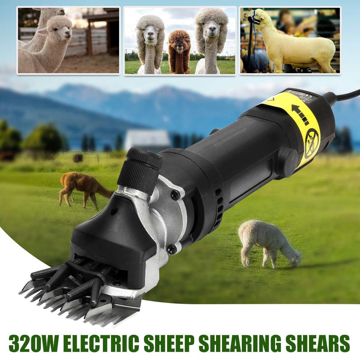 320W Electric Wool Shearing Scissors UK 220V US 110V Electric Sheep Goat Alpaca Pro Animal Groomer Clippers Wool Shearing Shears