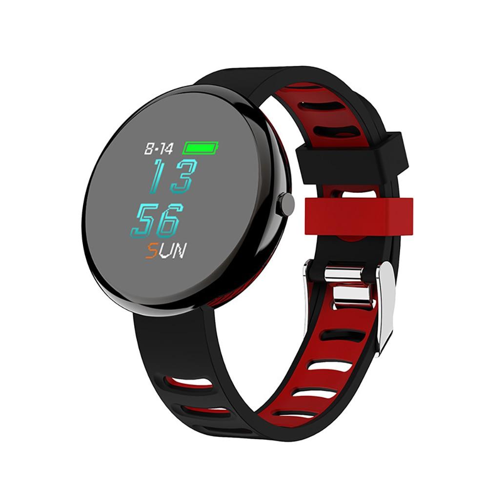 Montre intelligente I10 pression artérielle 0.95 écran LED couleur horloge fréquence cardiaque Tracker Fitness Bracelet intelligent femmes homme montre intelligente