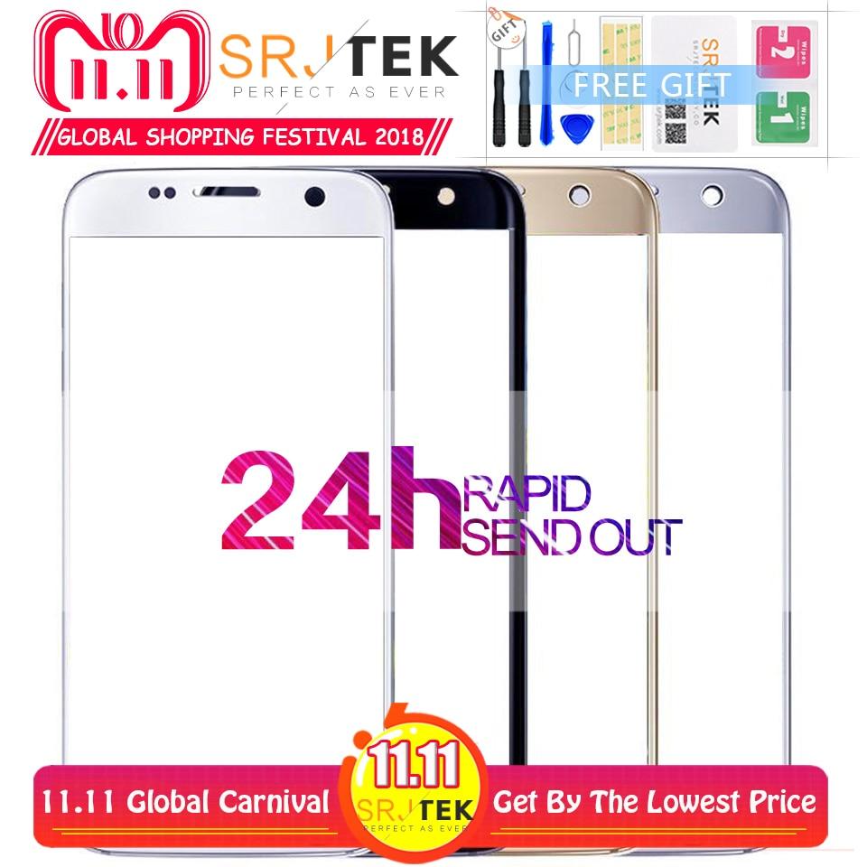 De tela Para Samsung Galaxy S7 G930 G930F Outer Tampo de Vidro/Lente Frontal Tela Frontal Tampa (Sem digitalizador) para Galaxy S7 G930