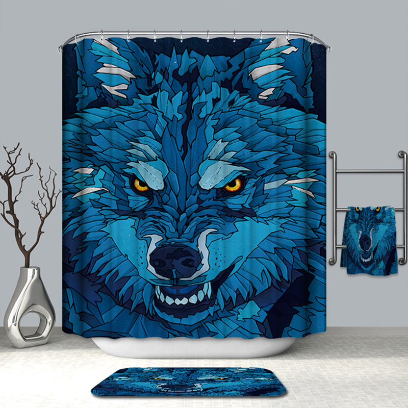 Image 3 - VOZRO Bath Natural Quality Of Bathroom Waterproof Totem Animal Farm Miniatures Bape Pascoa Simple Shower Curtain Douchegordijn-in Shower Curtains from Home & Garden