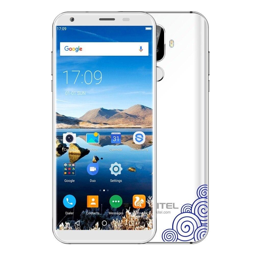 Oukitel K5 18:9 Display 5.7'' Android 7.0 2GB RAM 16GB ROM Smartphone Quad Core 13MP 3 Cameras 4000mah Fingerprint Mobile Phone