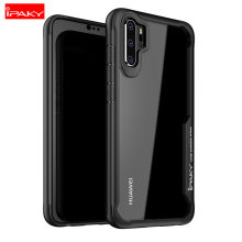 For Huawei P30 Case iPaky P30 Pro Case Silicone Acrylic Hybrid Shell Shockproof Transparent Case for Huawei P30 Pro Case(China)