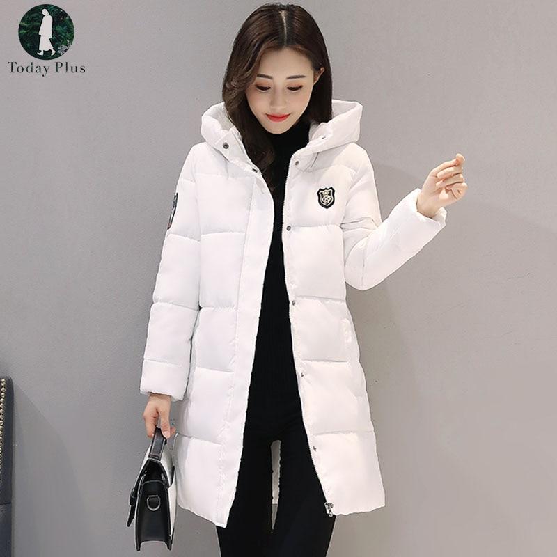 Plus Größe 3xl Winter Casual Mantel Jacke Frauen Einfarbig Langen Abschnitt Schlank Starke Mit Kapuze Mantel Baumwolle Weibliche Unten Padded jacken
