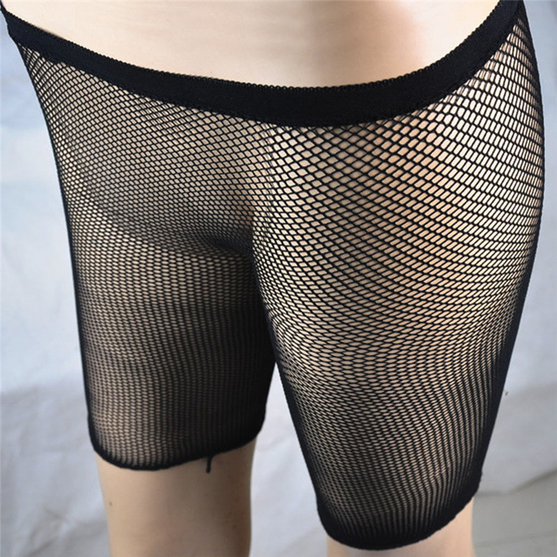 Ladies Womens Fishnet Cycling Shorts Half Pants See Through Leggings Stockings