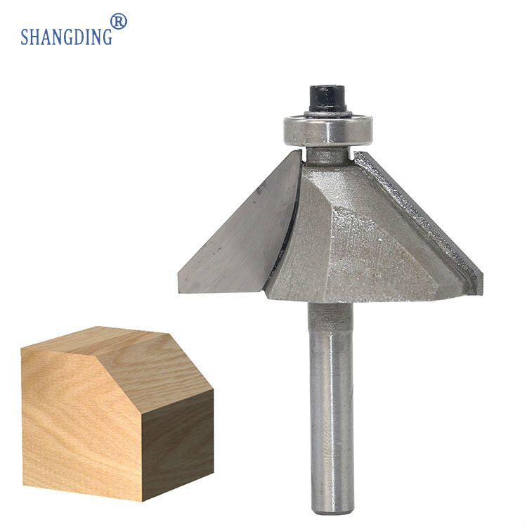 Wang 45 Degree Bevel Angle Knife Milling Cutter Trimming Machine Carving Cutter Head Degree Chamfer Knife 45   Angle Knife