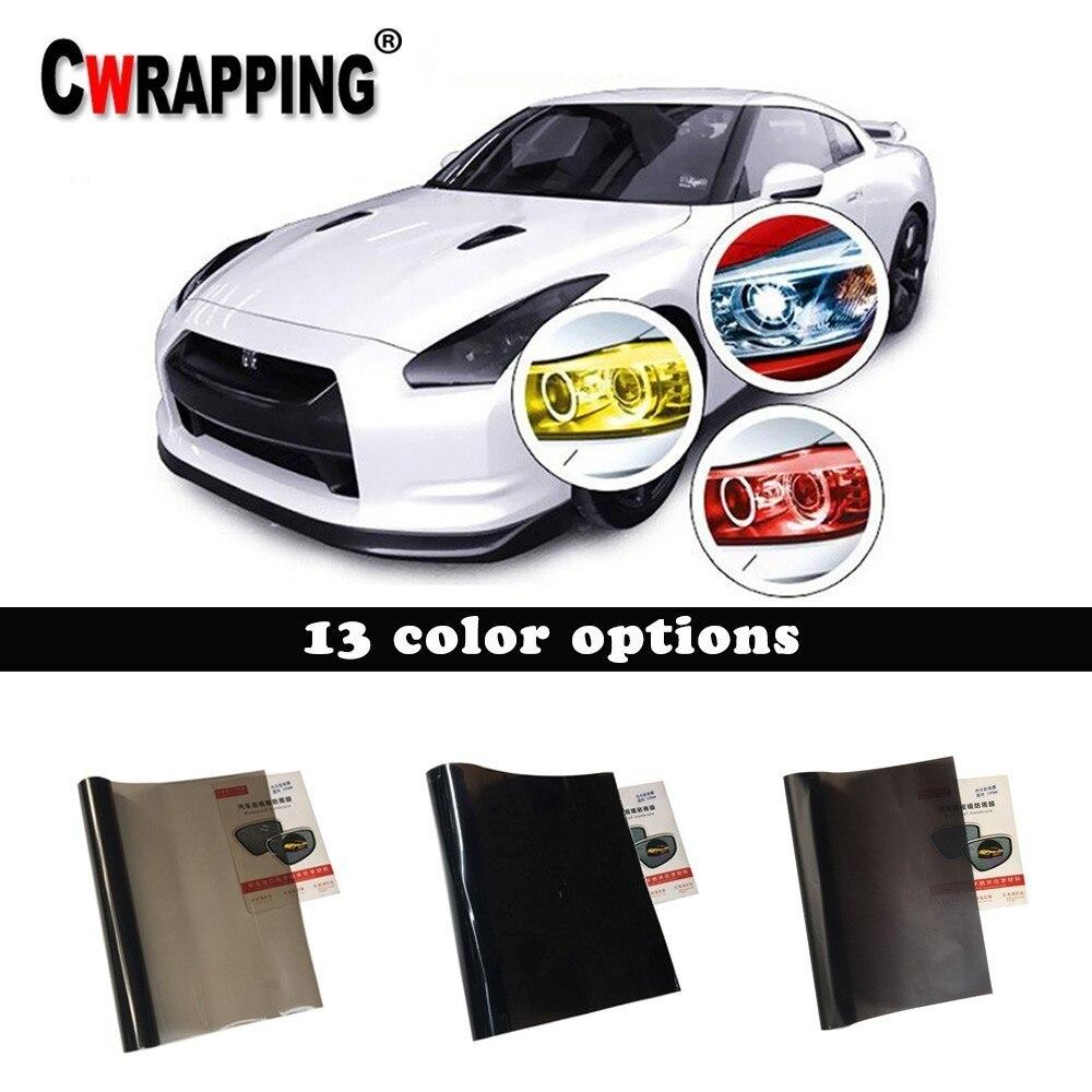 40x150cm Car Headlight Taillight Smoke Fog Light Translucent Tint Film Vinyl Wrap Wateproof Protective Lamp Sticker Multicolors