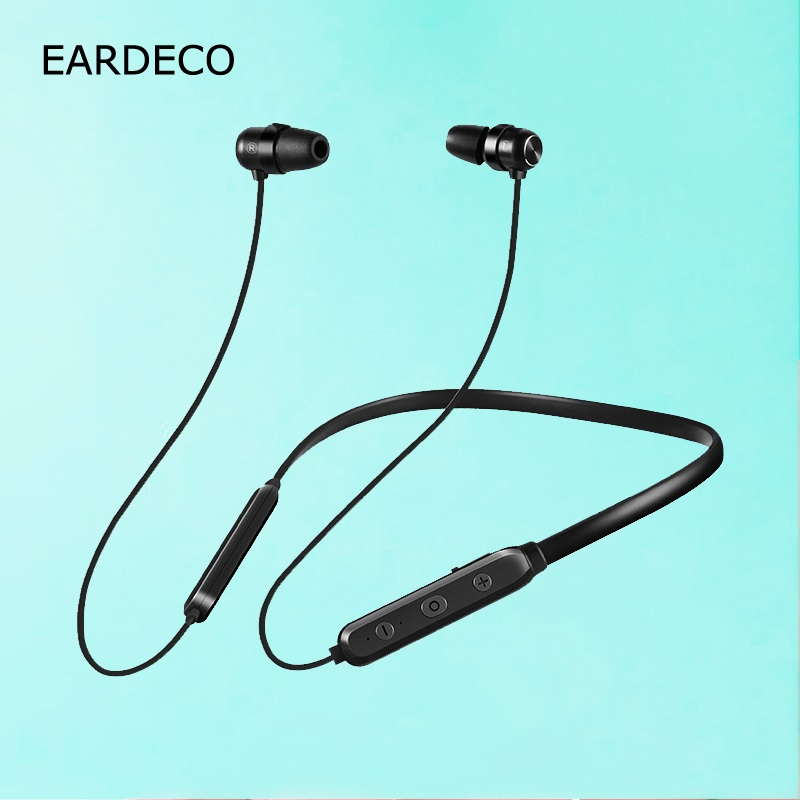 EARDECO Wireless Bluetooth Sports Headphone Strong Bass Magnetic Earphone Music Stereo Headset with Mic Noise Cancelling Earbuds цена