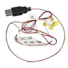 Светодиодный комплект освещения для лего для 10264 для угловых гаражных кирпичных игрушек светодиодный блок комплект освещения