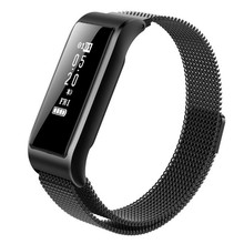 Купить с кэшбэком Color Screen Smart Watch 0.96 Inches Step Counting Calendar Intelligent Reminding Multi-Language Smart Wristband For iOS ANDROID