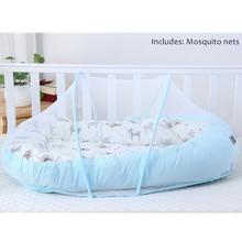 Детская кровать Alcofa, переносная кроватка для путешествий, Детская Хлопковая Колыбель для малышей, складная детская люлька для новорожденных, люлька-бампер