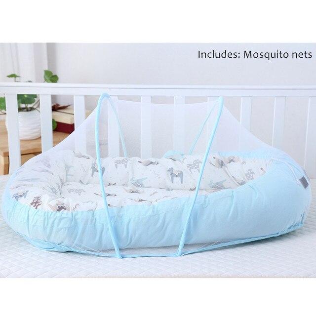 Cuna de viaje portátil para bebé, cama de nido de Alcofa, cuna de algodón para bebé